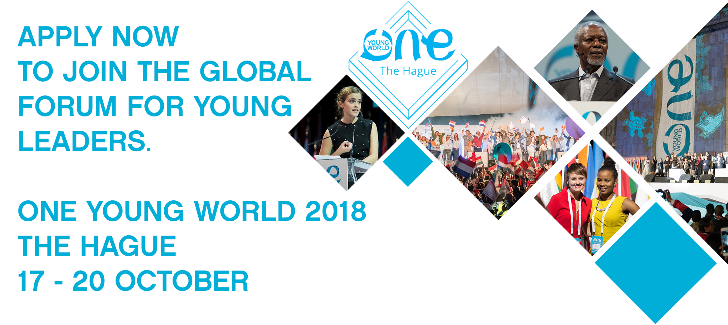 Join the Global Forum for Young Leaders: ONE YOUNG WORLD SUMMIT -NETHERLANDS (Fully Funded)